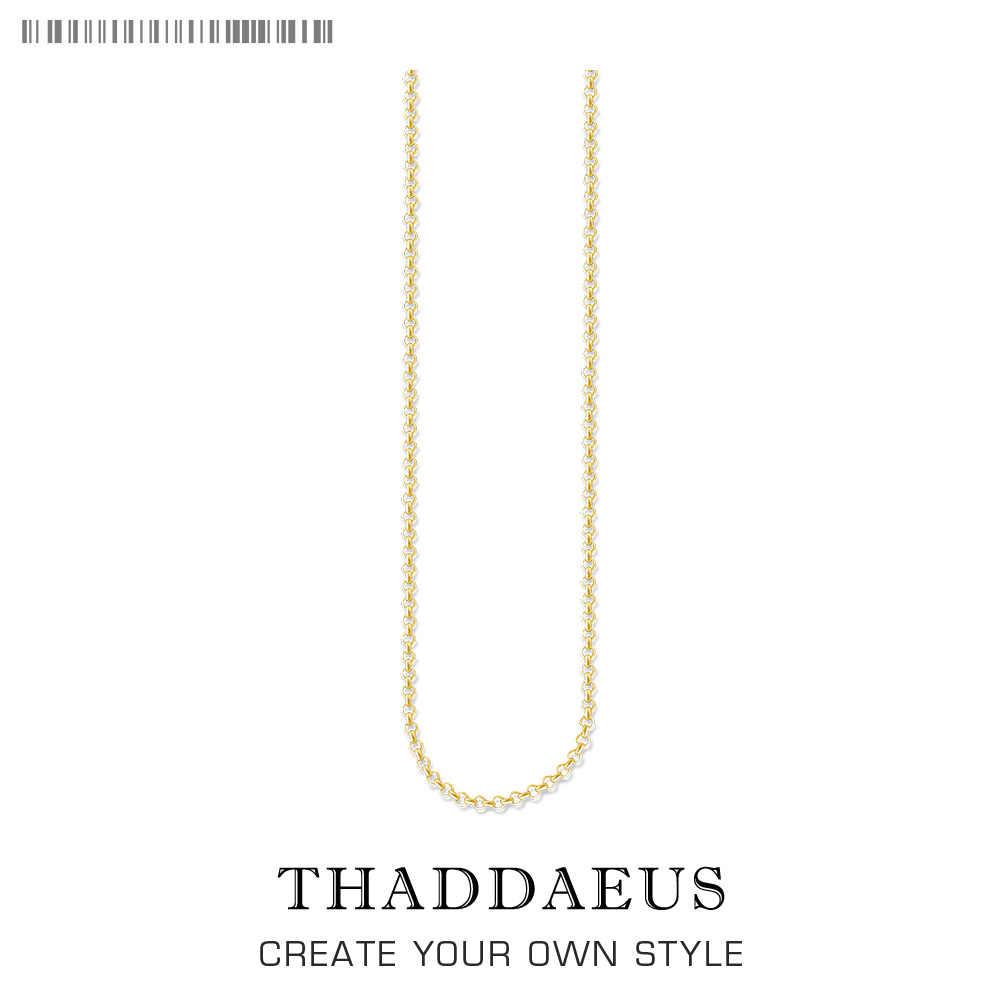 Okrągły Belcher naszyjnik łańcuch, 2017 Brand New Ts Strand biżuteria Thomas styl złoty Bijoux prezent dla mężczyzn kobiety