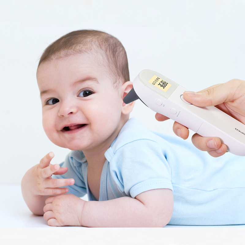 Digital Infrared Forehead Ear Thermometer Baby Adult Thermometers IR Non contact Body Temperature Fever Alarm LCD