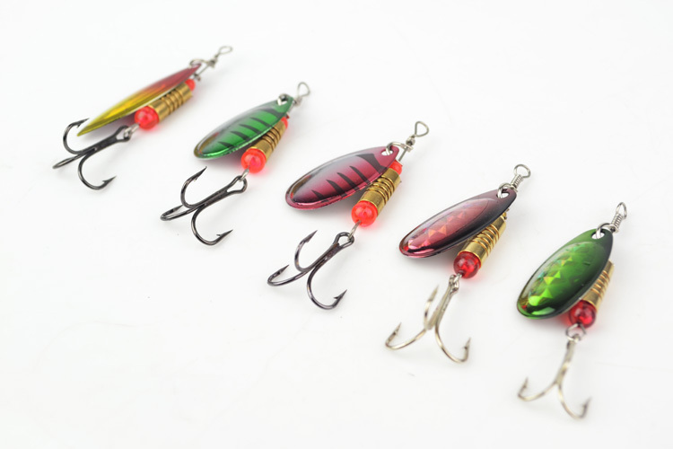 5pcs fishing lures fishing spinner tackle spoon lures mix for How to make a fishing spinner
