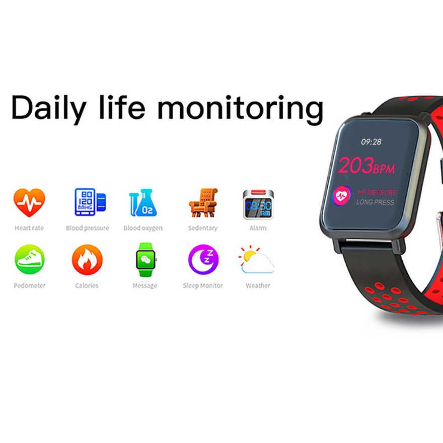 SN60 בתוספת צבע חכם להקת IP68 Waterpoof דם לחץ חמצן צג כושר צמיד לב קצב Tracker עבור Iphone אנדרואיד