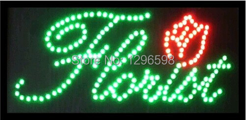 2017 hot sale customed 10x19 Inch Semi-outdoor Ultra Bright florist store led sign