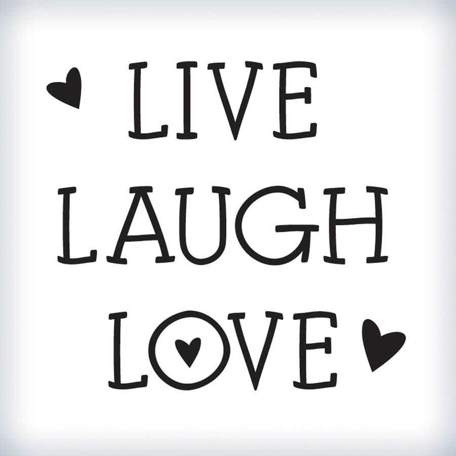 QP 52 Mini Hearts Live Laugh Love Stickers Quotes For