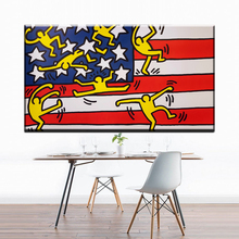 ФОТО ZZ1394 abstract decorative canvas art keith haring abstract oil art painting on canvas for home decoration unframed canvas print