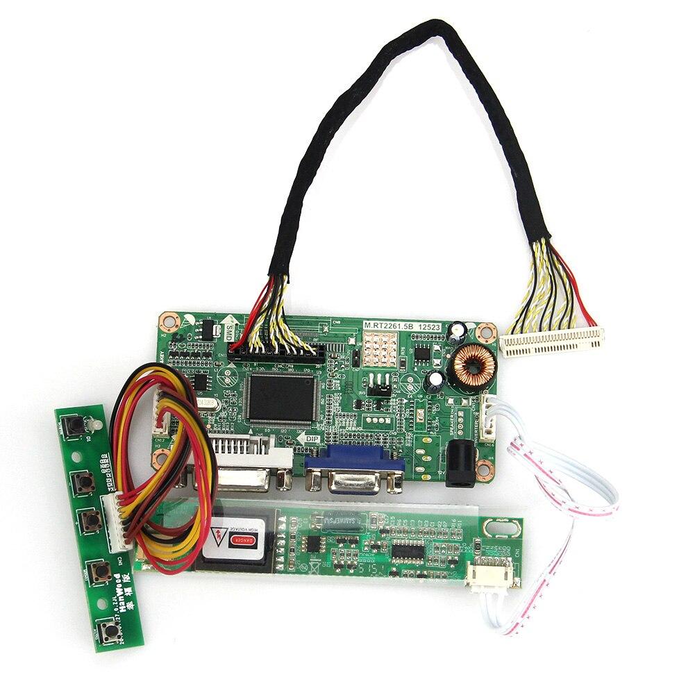 VGA+DVI For LTN154X1-L02 LTN154AT01 M.RT2261 LCD/LED Controller Driver Board 1280x800 LVDS Monitor Reuse Laptop 775mm led backlight lamps kit w optical lens fliter for 39 40 tv monitor panel 12pcs led strips driver board