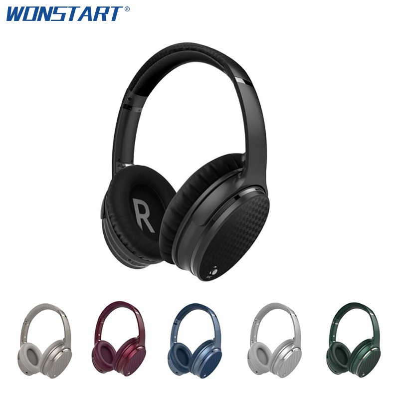 ANC Bluetooth Headphones Waterproof IPX4 Wireless Headphone Stereo Active Noise Cancelling With Mic Bluetooth Headset Wonstart