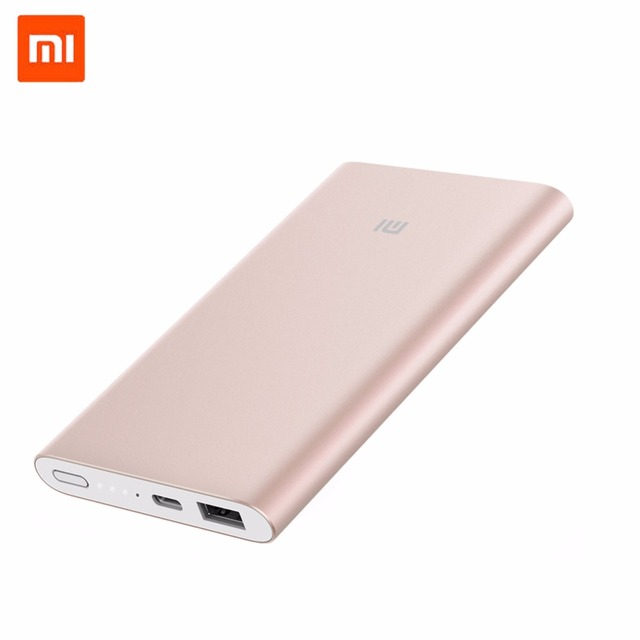 Xiaomi banco de la energía 10000 mah pro rosa cargador de móvil portátil bidireccional fast chrage soporte tipo c para el iphone teléfonos andriod