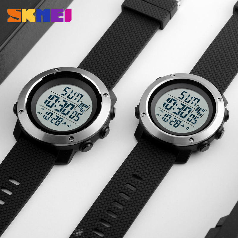 SKMEI Business Simple Watch Men PU Strap Multifunction LED Display Watches 5Bar Waterproof Digital Watch reloj hombre 1267