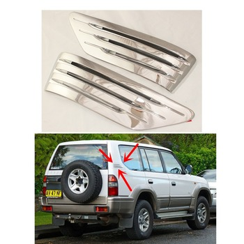 For Toyota Land Cruiser Prado J90 1996-2002 Side tuyere ABS Chrome plated car silver plating Modified tuyere Tim 2pcs image