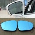 Ipoboo 2 stücke Neue Leistung Erhitzt w/Blinker Seitenspiegel Blaue Gläser Für Peugeot 508 side view mirror view mirrorblue side mirror -
