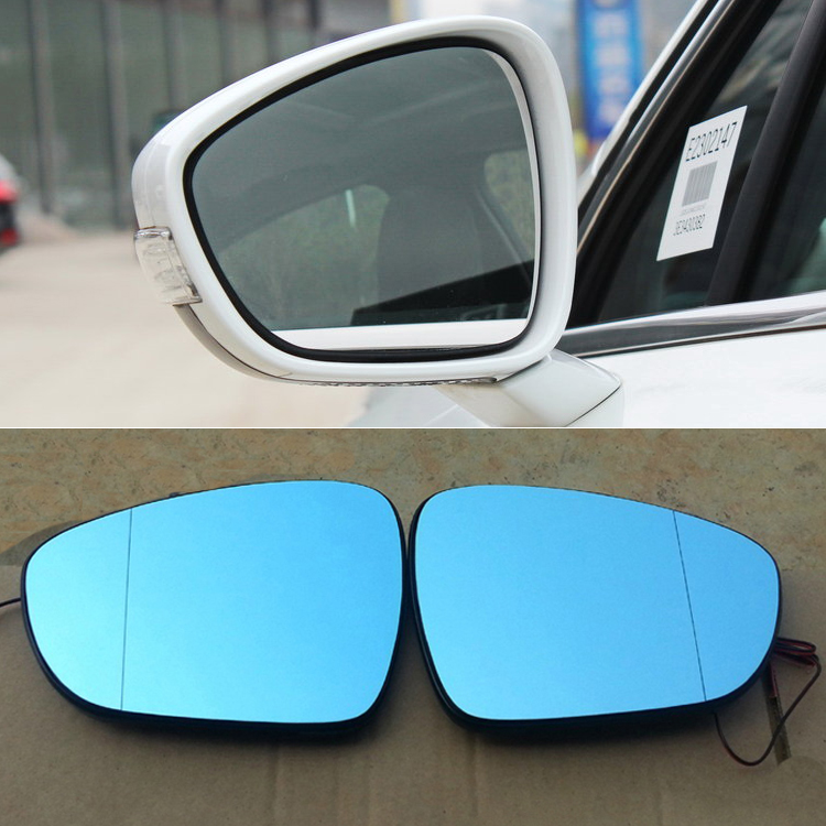 Ipoboo 2pcs New Power Heated w/Turn Signal Side View Mirror Blue Glasses For Peugeot 508