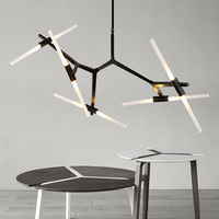Pendant Light Indoor Living Room Decoration Light Fixtures Dining room Pendant Lamp Like Branch Black / Gold With G9 LED Bulbs