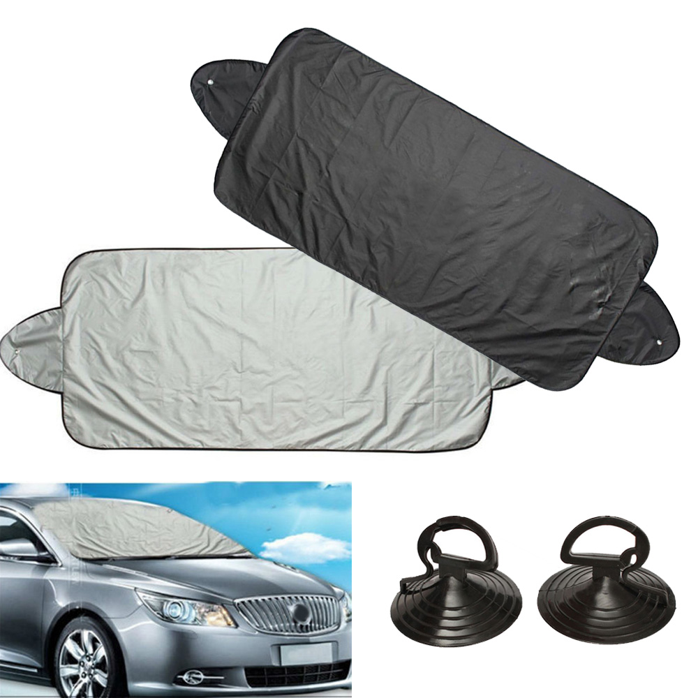 Image 2 - 1*Car Windshield Protection Cover Snow Ice Frost Sun Shield Sunshade Car Access-in Windshield Sunshades from Automobiles & Motorcycles