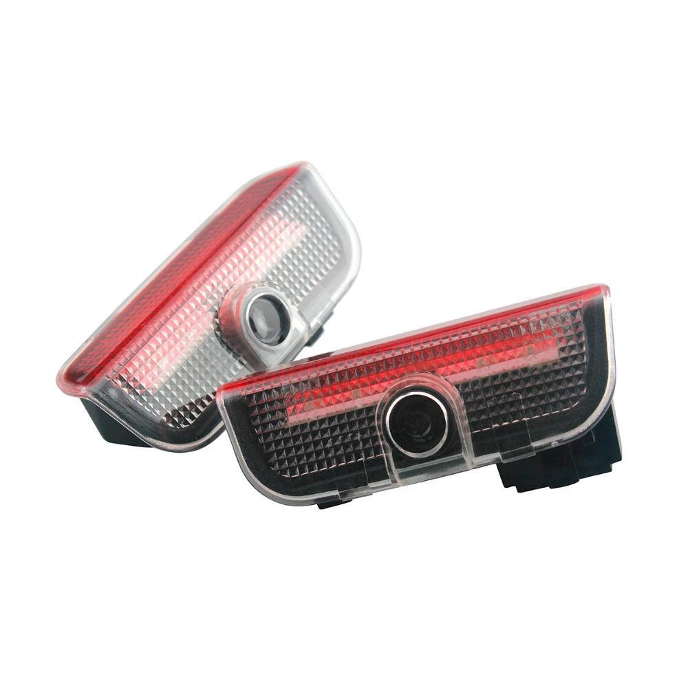 2pcs/Set car light accessories Welcome Light For Volkswagen VW Passat B6 B7 Golf Jetta Tiguan Led Light car styling