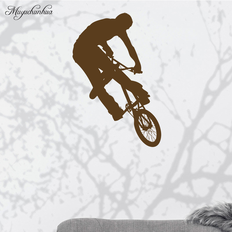 Muyuchunhua Boy Rider Fashion Wall Sticker Wall Decor Home Decor Living Room Wall Stickers for Kids Rooms Bedroom Accessories