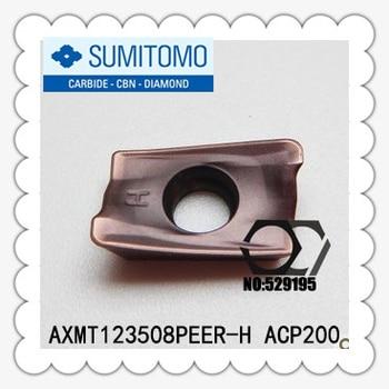 Original Sumitomo 10pcs AXMT 123508 AXMT123508 PEER AXMT123508PEER-H ACP200 Carbide Inserts Lathe Tools Cutter utensili tornio