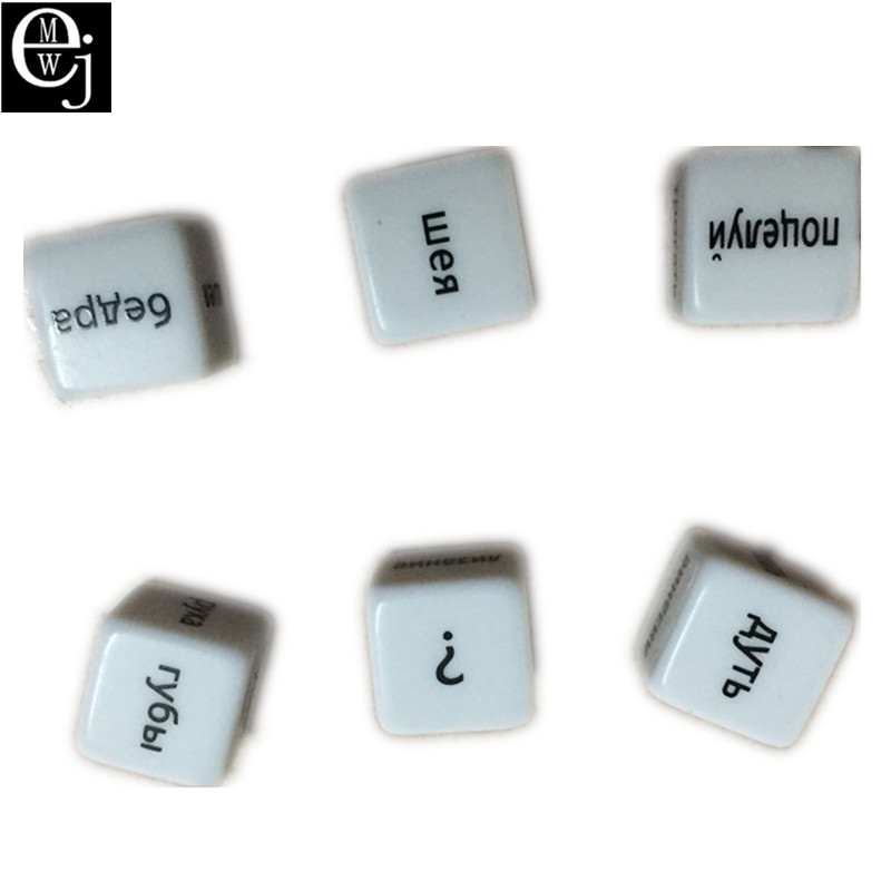 EJMW Russian Dice Russian Sex Dice Sex Toys For Couples Acrylic Erotic Toys Adult Sex Toys For Women Men Russian ELDJ47