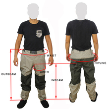 Fly Fishing Hunting Wading Pants Men Breathable Waders Waterproof  Windproof Outdoor Pants With 3-Layer Fabric