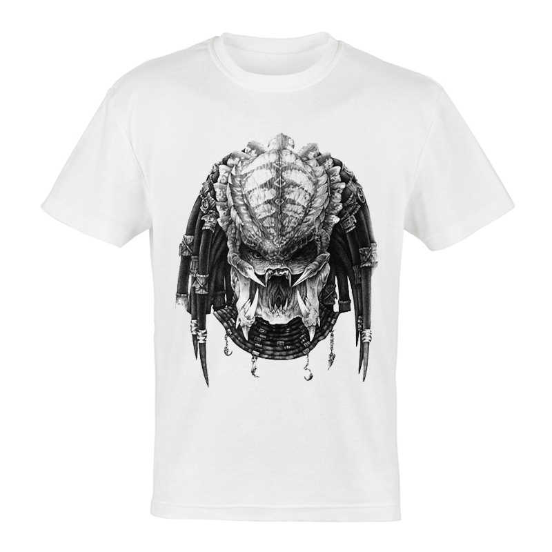Film Avp Alien Vs Predator T-shirt Wit Kleur Korte Mouw Alien Avp Darthworks T-shirt Top Tee Fashion Mens Avp t-shirt