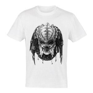 AVP Alien vs Predator T-shirt White Color Short Sleeve Alien AVP Darthworks T Shirt Top Tee Fashion Mens Movie Clothes Dropship