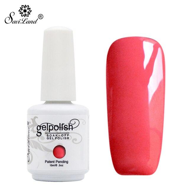 Saviland 1pcs 15ml 58 Colors Gel Nail Polish Glossy Gel Nails Varnish Manicure Soak Off UV LED Long Lasting Nail Lacquer