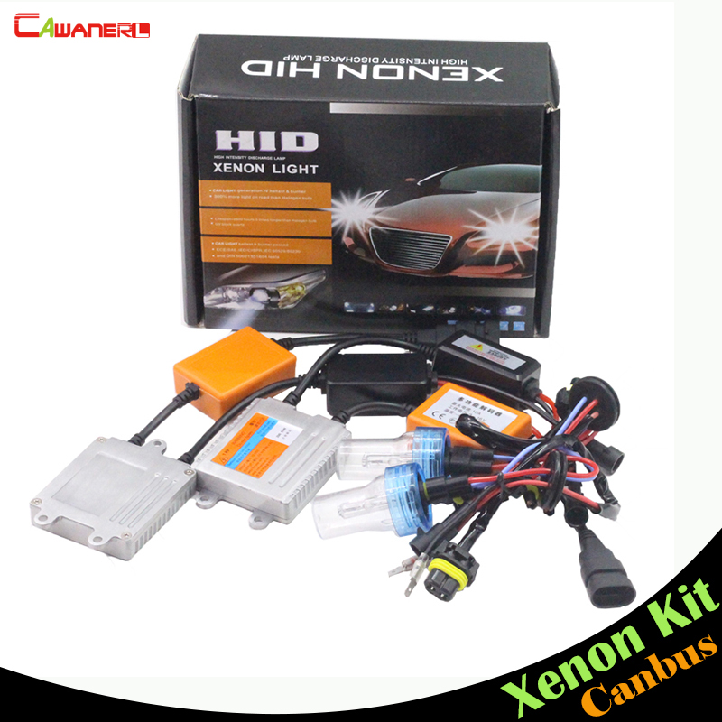 Cawanerl H8 H9 H11 55W No Error Xenon Ballast Lamp AC Canbus HID Kit Headlamp 3000K-8000K Car Fog Light Headlight DRL