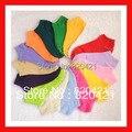 20 peças = 10 pares de verão cor sólida chinelos meias doces cor meias meias boca rasa meias invisíveis 8865