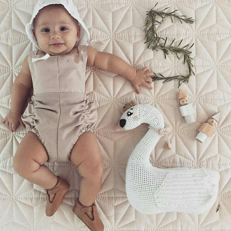 New Handmade Baby Toy Knitting little Swan Soft Stuffed&plush Baby Pillow Toys Christmas Gift for Kid sozzy baby bed educational plush toys infant music toy bells blue girls birthday gift kid pillow soft pp cotton toys