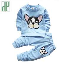 Kids boys clothes Cartoon dog little girls fall boutique outfits winter children clothing set Casual knitted tracksuit 2 4 years недорого