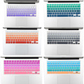 """Gradiente Ombre Colores de Piel de Silicona Cubierta Del Teclado EE.UU. Layout para MacBook Pro 13 """"15"""" 17 """"retina para imac y macbook air 13"""