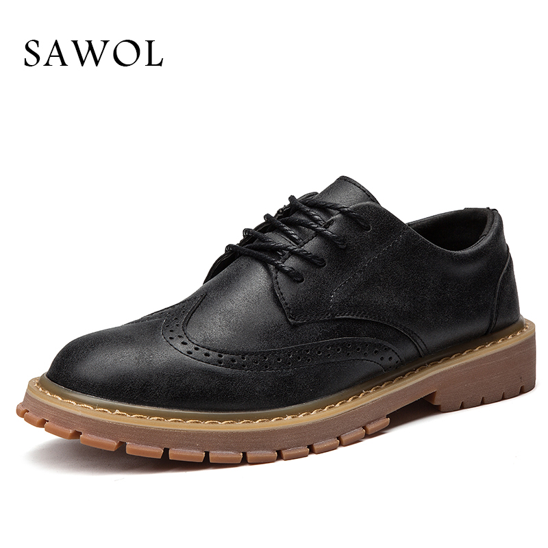 Sawol Men Casual Shoes Men Sneakers Men Flats Brand Men Shoes Lace Up Genuine Split Leather Plus Big Size Spring Autumn glowing sneakers usb charging shoes lights up colorful led kids luminous sneakers glowing sneakers black led shoes for boys