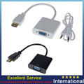 Black/White 1080P HDMI To VGA Converter w/Audio Cable for Raspberry Pi 2 Model