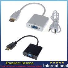 Noir/Blanc 1080 P HDMI À VGA Convertisseur w/Audio Câble pour Raspberry Pi 2 Modèle