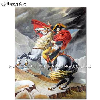 High Quality Handmade King Napoleon Portrait Oil Painting on Canvas for Home Decor War Horse Painting on Wall Art as Gift
