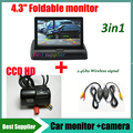 2.4G wireless signal kit car rear view parking camera For For Ford Transit + 4.3inch Car mirror Monitor