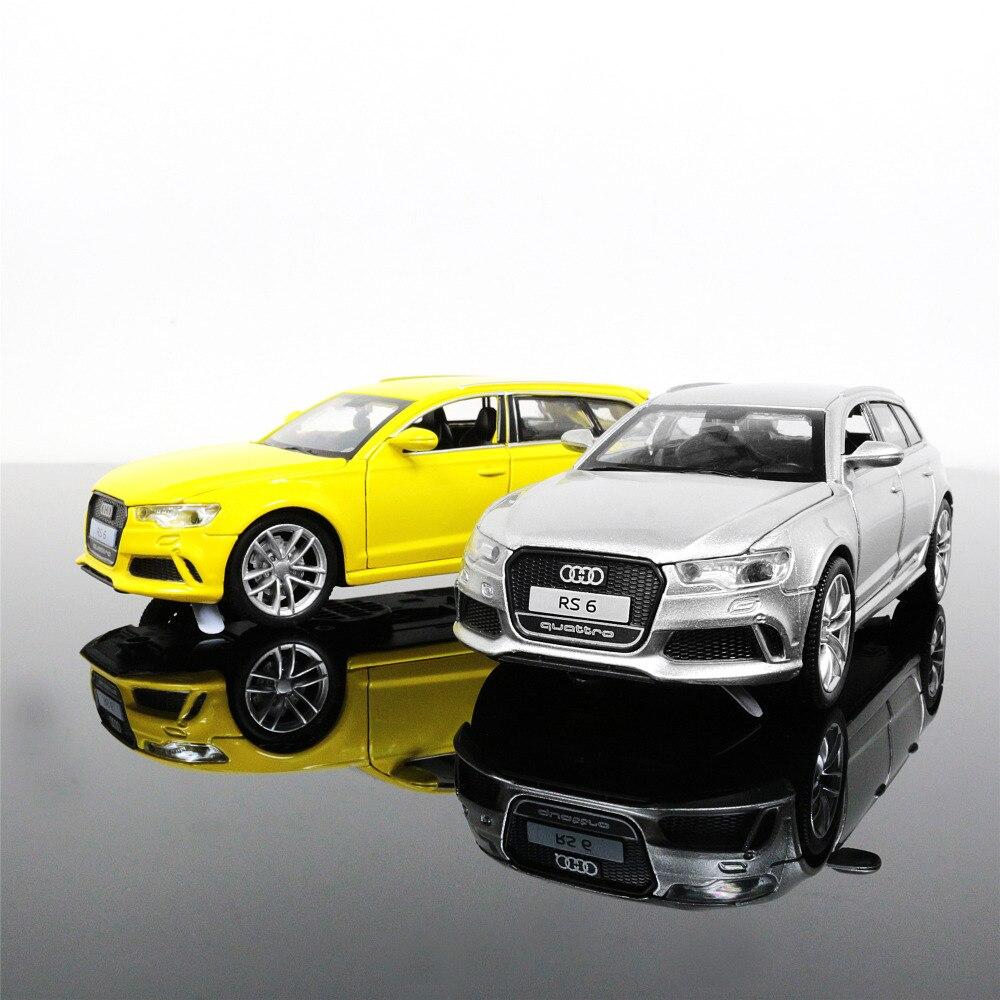 1:32 Масштаб литья под давлением сплав металла роскошный внедорожник модель автомобиля для Audi RS6 Quattro Коллекция Модель отступить игрушки авто... ...