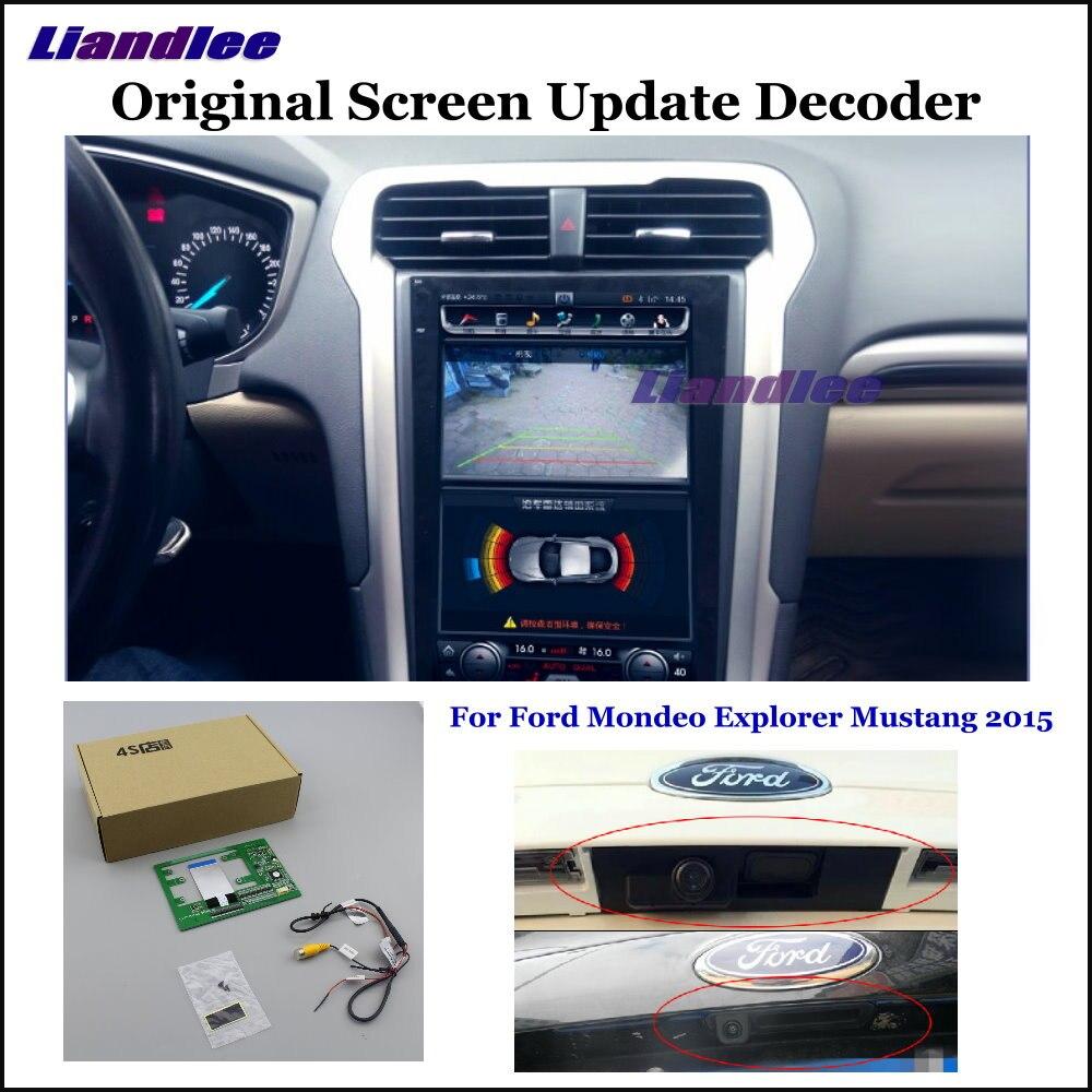 Liandlee для Ford Mondeo Мустанг Explorer оригинальный Дисплей обновление Системы заднего хода автомобиля Камера цифровой декодер сзади Камера
