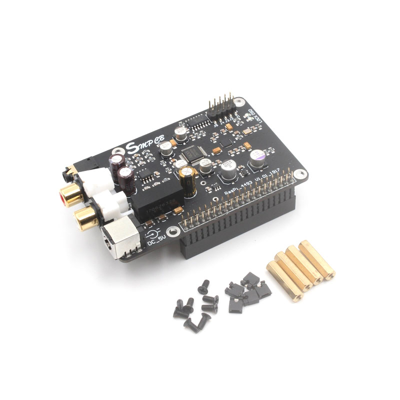 AK4493 DAC Decoder Board Digital Broadcast Network Player I2S 32BIT 384KHZ DSD128 For Raspberry Pi 2B 3B 3B+ DAC G6-001