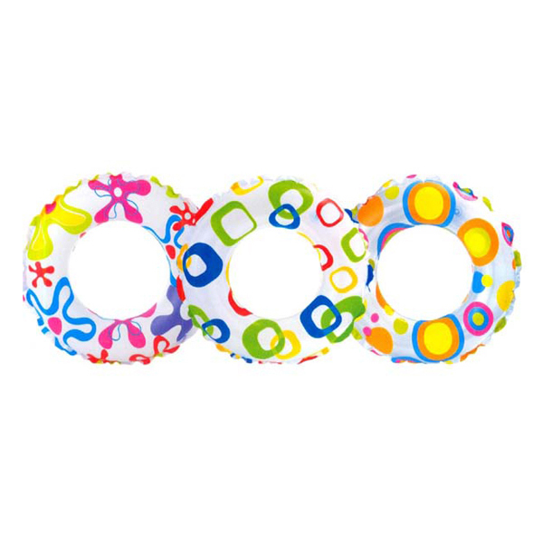 3-6 Years Old Kids Inflatable Swim Ring Tube Pool Float Colorful Flowers for Swimming Pool Baby PVC Swim Ring Outdoor Beach Pool