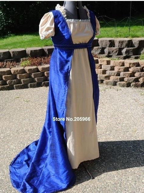 CUSTOM Regency Jane Austen Open Robe Over Dress Gown Holiday Dress ...