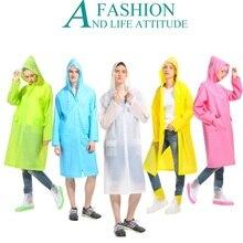 """Для женщин непромокаемый плащ EVA куртка мужская для дождя прочные Матированный с декорированием узором """"Мороз"""" дождевики Водонепроницаемый с вытяжки пара плащ-накидка для взрослых костюмы"""