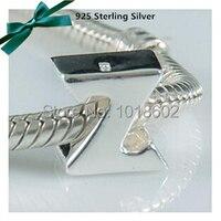 100% 925 prata inglês letra Z do alfabeto encantos Beads Fit estilo europeu pulseira VK0485Z