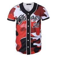 Army Red Print Baseball Jersey 3D Shirt Men/Women Mens Tshirts Top Tee Funny V Neck Hip Hop Tees Casual Streetwear T shirt