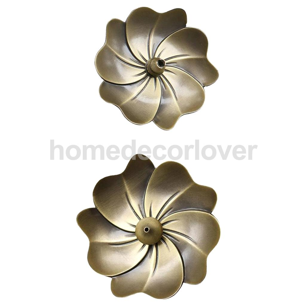 2Pieces Creative Alloy Feng Shui Incense Burner Holder Home Fragrance Accessories Bronze