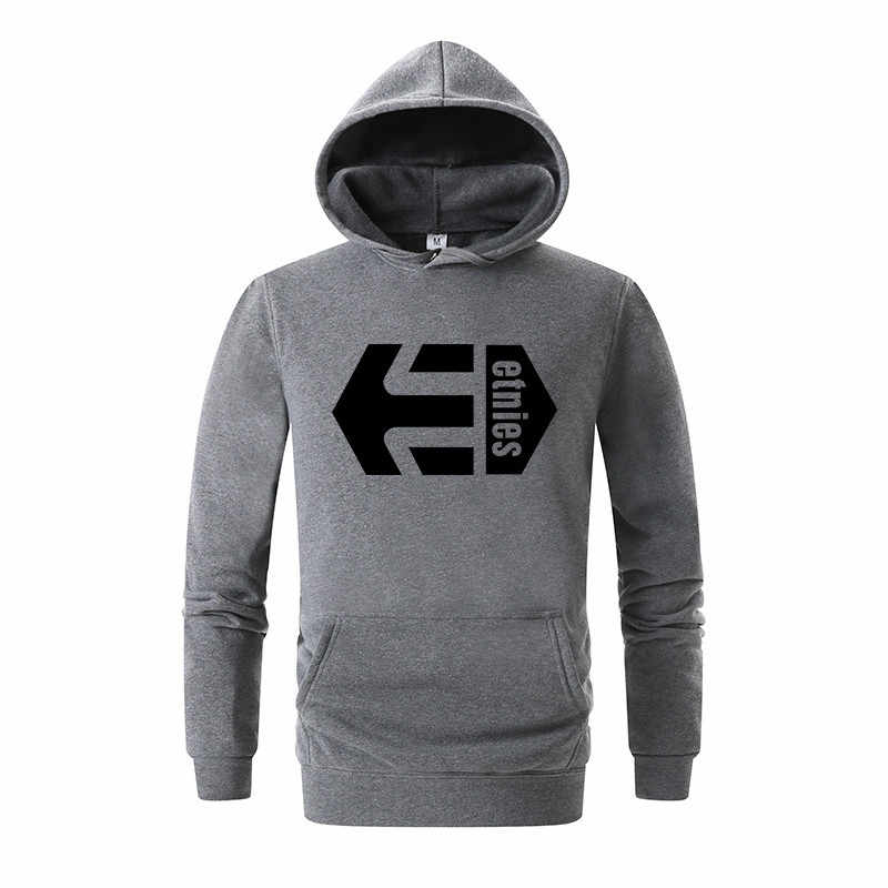 Autumn Men's Etnies Brand Letter Print Hoodie Casual Sweatshirt Men's Cotton High Quality Sweatshirt Men's Casual Fashion Hoodie