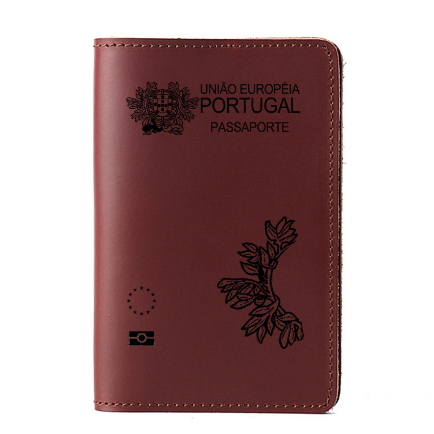 Portugal Passport Cover Genuine Leather Cover For Passport Portugal National Card Holder Case For Travel Accessories