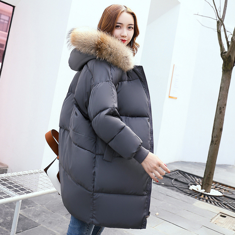 2017 New Arrival -30 Degree Winter Parka Jackets And Coat Women Long Style Thick warm Female Coat  Detachable Fur Hooded Collar