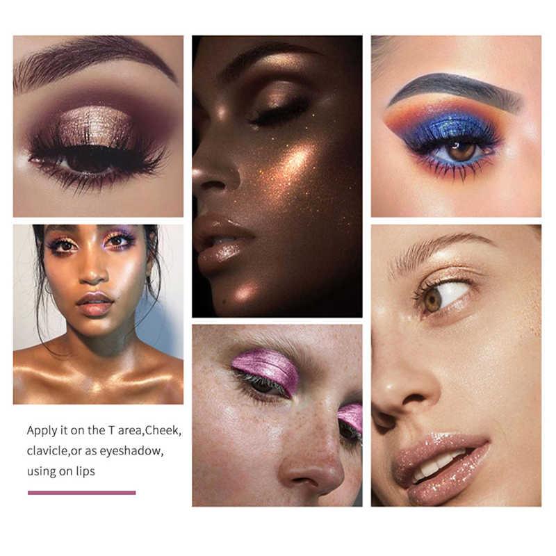 Phoera Baru Mini Eye Shadow Bedak Makeup Tahan Air Mutiara Monokrom Eyeshadow Palet Kosmetik Kecantikan 12 Warna TSLM1