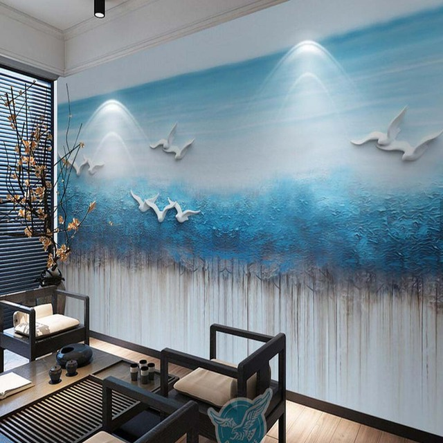 3D Abstract Wall Mural Custom Size High Quality Modern Chinese Photo