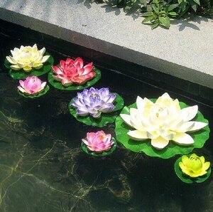 Диаметр 60 см, огромные искусственные украшения, цветок лотоса, ремесло, водный бассейн, искусственный цветок EVA для Рождественского украшен...