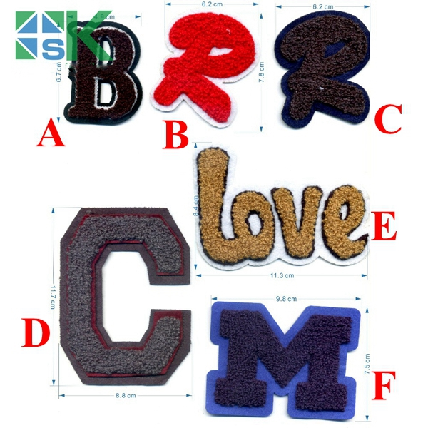 6 Styles Capital Letters Embroidery Patches English B R C M LOVE DIY Patchwork Accessory Badges Armband Clothing Iron-on Patches ...